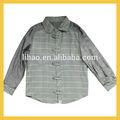 100% de algodón de estilo chino de verificación camisas para kids