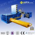 Aupu y81t-250b certificación ce venta caliente horizontal hidráulico chatarra de virutas de metal prensa compactadora de maquinaria con el transportador