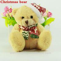 2014 newest stuffed christmas gift bear plush toy