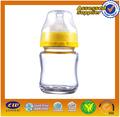 seguro mini baby biberón de vidrio con tapa de silicona