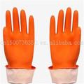 flocado de goma del hogar amarillo guantes de látex de largo guantesdelhogar