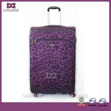 Own Brand Luxury Purple Leopard Luggage