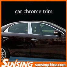 Acero inoxidable ventana de coche de la cubierta cromada OEM de cromo para coches