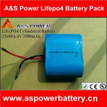 Rechargeable 6.4V lifepo4 3500mAh battery for solar street light