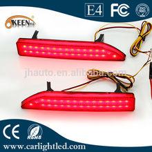 LED Rear Bumper Reflector Light,Night Running Light and Brake Light Function for 2009 Honda CRV