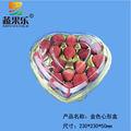 coração de ouro em forma de morango de plástico recipientes