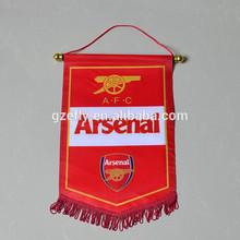 Digital printing polyester Arsenal soccer team pennant flag