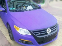 High quality 1.52mX30m car body protective and styling purple matte vinyl film