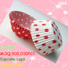 Polka dot baking paper cupcake liner with wholesale price in Guangzhou