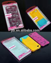 high quality plastic mobile phone case pvc packaging folding box