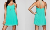 2014 New Mint Green Chiffon Dress for Lady custom design