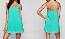 2014 New Mint Green Chiffon Dress for Lady custom design