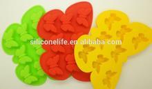 Hotsale FDA Custom 8pcs non-toxic silicon ice tray(mini butterfly shape)