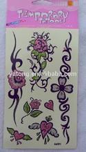 Fashion Popular Beauty glitter body rhinestones tattoo sticker
