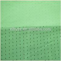 polyester small hole mesh reflective warp knitting fabric