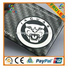 jaguar ABS Electroplating Chrome Car Emblem custom plastic emblem logo