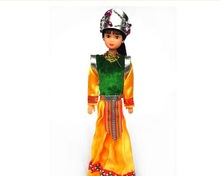 Wooden chinese minority doll Lovely Chinese Culture doll