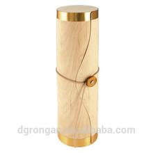 China wholesale tube wood single bottle wine carrier / box / case D06-199