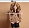 2014 ultima giacca invernale ragazze lucido giacca corta j003