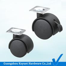 Pro Hot Free Sample Wholesale Heavy Duty Economical Nylon Black Plate Caster Wheel