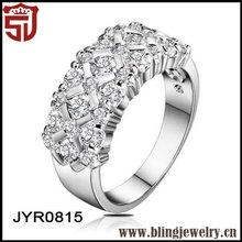 Bling Jewelry Women Zircon Wedding Band Luxurious Rings