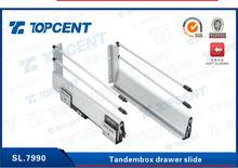 High quality full extension soft close tandem box drawer slide
