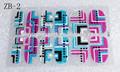 12 peças em um pacote de design de cartão de etiqueta do prego