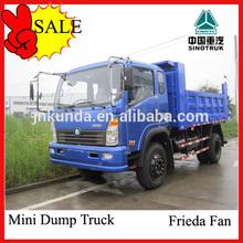 SINOTRUK 4x2 diesel fuel mini dump truck 6 ton