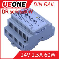 Hot sale 60w 24v 2.5a Din Rail switching power supply Of DR-60-24