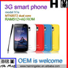 low price 3G smart phone IPS 5 inch dual core 512+4G model No. x1s