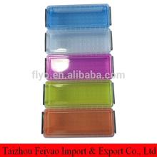 Colorful plastic pencil case