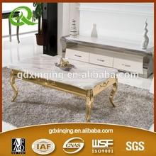 Europe Standard Luxury Marble Top Stainless Steel Leg Coffee Table C364