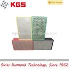 diamond hand polishing pads on glass edge