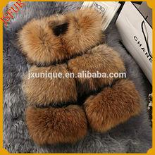Stylish colorful real raccoon fur vest women fur vest