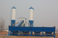 Commercial continuous mobile mini plant, concrete batching station