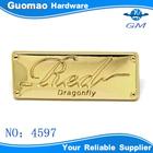 High quality customized handbag logo metal plate