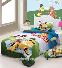 Beautiful Children Bedding Set 3pcs, Quilt Cover, Bed Sheet, Pillow Case, Cartoon Design Carfield