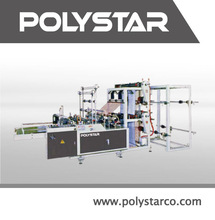 Cloth bags machine able to produce T-shirt bag, punched handle bag by adding additional devices