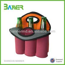 Wholesale Easy-carry neoprene promotion beer tote wine bottles cover bag