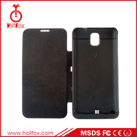 New arrival 4200mAh With Flip Cover For Samsung Galaxy Note 3 Battery Case