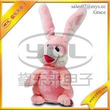 singing dancing rabbit plush toy/singing dancing plush doll
