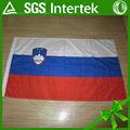 profesión de encargo precio competitivo 100d de poliéster de impresión de la pantalla bandera de eslovenia