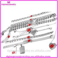 IJMB177 Alibaba wholesale surgical grade stainless steel Diabetic Bracelet