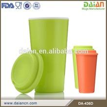 custom microwave safe plastic unbreakable starbucks coffee mug with lid