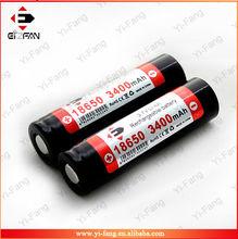 2014 new generation EFAN Li-ion 18650 3400MAH 3.7V with flat top high drain battery
