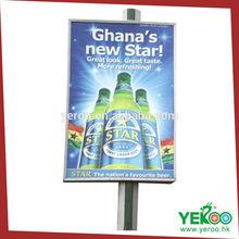 Vertical Sign Shop Steel Pole Construction Advertising Billboard Signboard