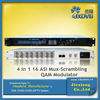 4 in 1 16 ASI MUX-Srambling RF Modulator/IP QAM Modulator