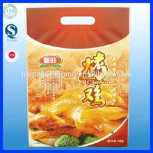 vivid printed 3 side sealing plastic vacuum packaging bag for roast chicken