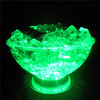 LED lighting up cooler plate/RGB LED Ice Fruit Plate/ice bucket for bar