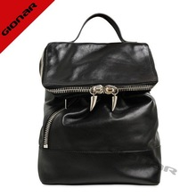 2014 fashion school boys Leather backpack bag